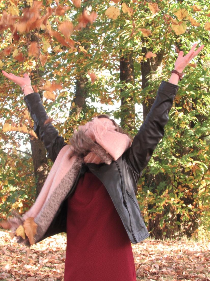 feuilles-vol-bordeaux-echarpe-look-automne